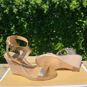 Michael Kors leather wedges espadrilles sandals